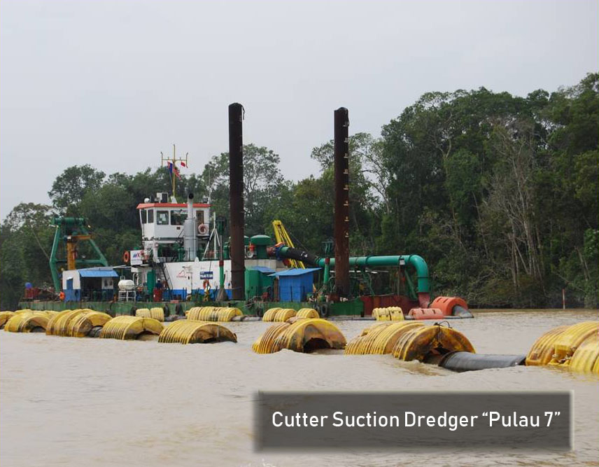 "Cutter Suction Dredger ""Pulau 7"""